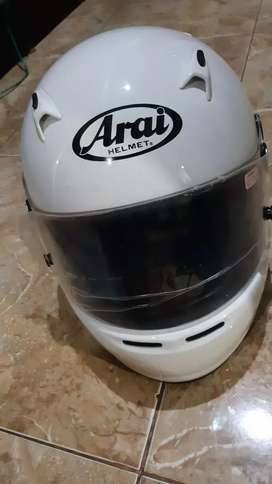 Helm gocar white type ck 6 made in japan