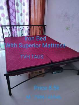 Iron Bed with Superior Quality Mattress
