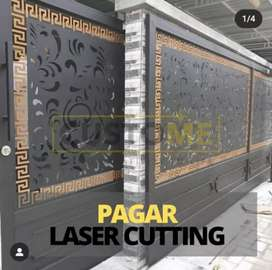 Pagar plat cutting laser