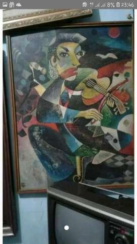 Lukisan pemain biola