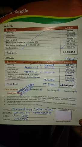 GFS north Town residency plot for sale