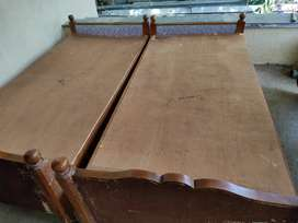 Sagwan bed 2 piece