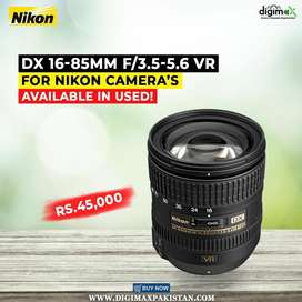 Nikon 16-85mm F/3.5-5.6 DX wide lens skightly used available