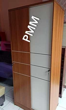 PMM. Lemari pakaian 2 pintu sliding + cermin