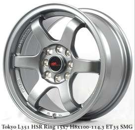 free ongkir TOKYO L351 HSR R15X7 H8X100-114,3 ET35 SMG