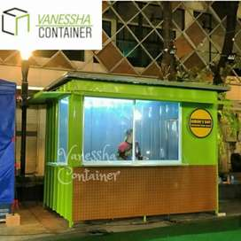 CONTAINER BOOTH CUSTOM / CONTAINER USAHA MAKANAN / CONTAINER FOOD AREA