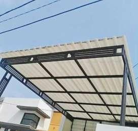 @1 canopy minimalis rangka tunggal atapnya alderon anti panas