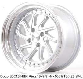 Velg New Racing DOBO JD215 HSR R16X8-9 H4x100 ET30-25 SML