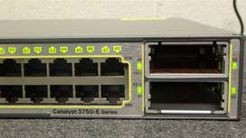 Cisco Catalyst WS-C3750E-48PD-SF Manageable Layer 3 PoE Switch