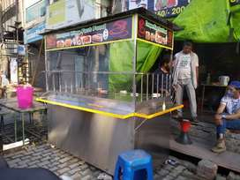 Steel fast food counter
