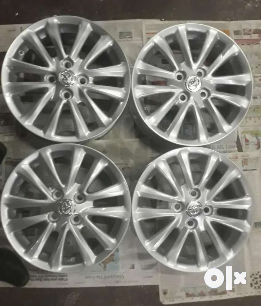 15 inches Toyota Etios OEM silver colour brand new alloys set of 4 0