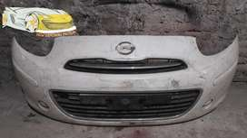 Bumper nissan march 2012 komplit grill original