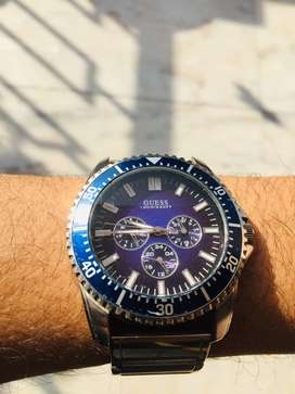 My original Guess Royal Blue Dial WATERPRO gem watch