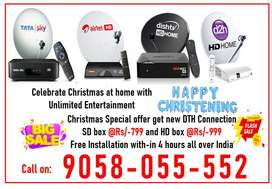 Christmas Special Offer! Tata sky DishTV Airtel DTH Book Now Tatasky H