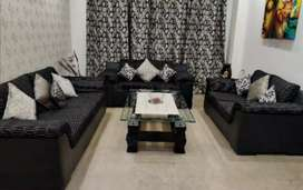 Sofa set with center table