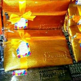 Souvenir Pernikahan POUCH MEWAH TEBAL WARNA Dompet Wedding Gift