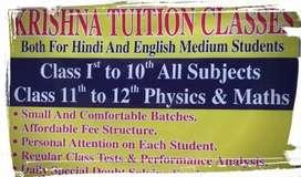 Krishna tuition classes(avni home near chokhi dhani)