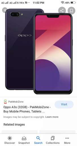 Oppo a3s Mobile fore sell lush condition 2gbram 16gb