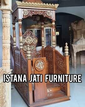 Ready stock mimbar masjid konsep simpel & elegan