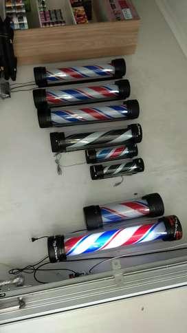 Lampu barberpole barbershop pangkas rambut