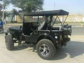 Modified jeep with top roof