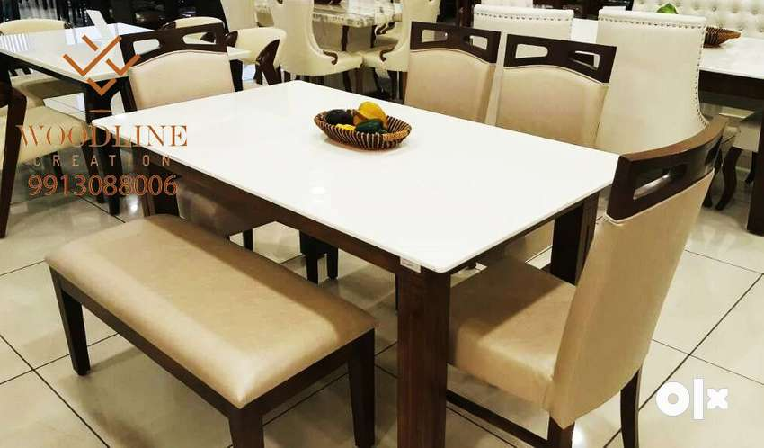 Brighton Large 6 Seater Dining Table Set with Bench WDC-1060 0