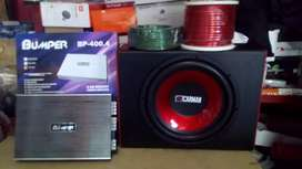Subwoofer 12 inchi+ Box sub mdf+Power 4 Chnl watt gedde+Instalasi+psng