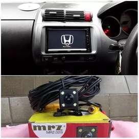 Double Din TV plus kamera buat Honda jazz