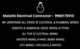 Electrician works  all house wairing