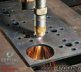 Steel fabrication parts cutting services