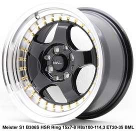 velg racing hsr brisket ring 15x7/8 inch h8x100/1143 black polish