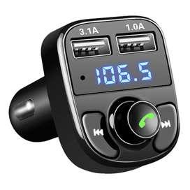 Bluetooth Audio Receiver FM Transmitter HandsfreeUSB Car ChargerBlack