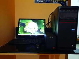 Desktop sale with full accesories,keyboard,mouse,ups