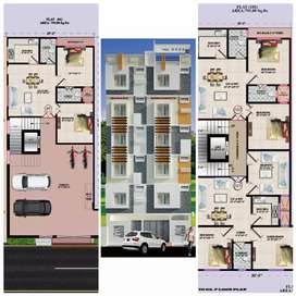 3bhk delux flat in doodh bowli. 35 lakhs. With modern ammunties