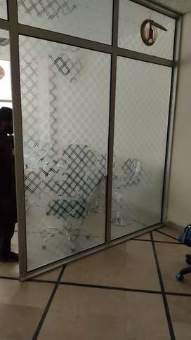 Aluminum and Glass partition