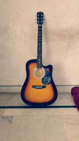 Fender squire semi acoustic guitar with fishmen pickup