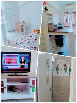 Disewakan unit studio fasilitas full furnish murah, bersih dan rapih