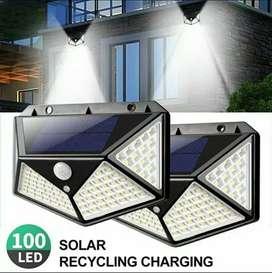 Lampu Solar Tenaga Surya 100LED Lampu Dinding Lampu Taman Sensor Gerak