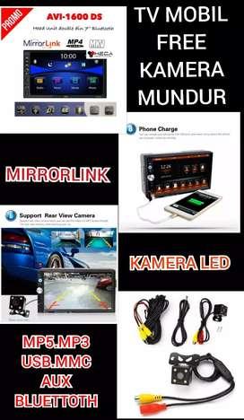 Paket Tv Mobil Miror Link Free Kamera Mundur (Mp5.Usb.Mmc.Aux.Bluettot