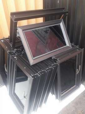 Jendela aluminium  alexindo yg sdh komplit 120cm x 50cm free ongkir