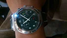 Swatch chronograph green dial