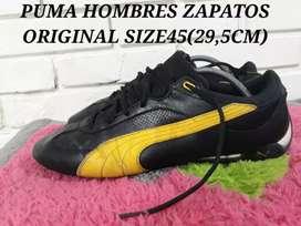 PUMA HOMBRES ZAPATOS LEATHER ORIGINAL SIZE45(29,5CM) asli bkn lokal/kw