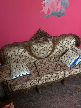 Full sofa set hard crafted wood work