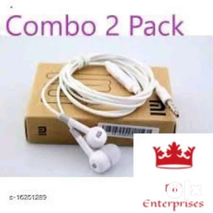 Combo of 2 Pack In Ear Wired Earphones With Mic