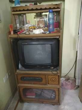 TV and it's Trolley with 3 cabinet