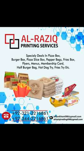 Pizza box and Printing services