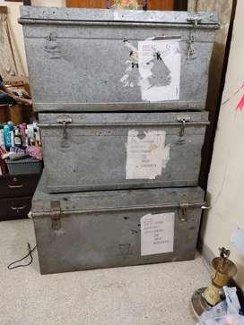 3 aluminium boxes for urgent sale.