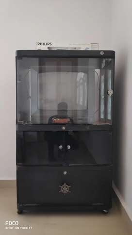TV showcase with TV & DVD player
