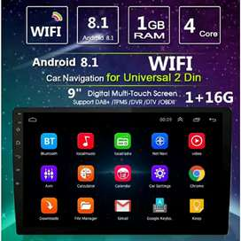 Head Unit Android 9 inch Double Din MP5 Wifi GPS Bluetooth