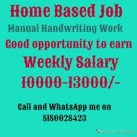 Home Based Job, for students, housewife, jobseekers